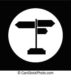 irány, ábra, aláír, tervezés, út, ikon