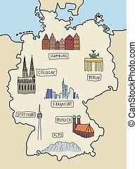 iránypont, németország
