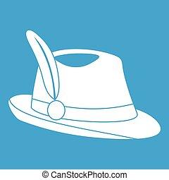 irština, klobouk, ikona, neposkvrněný