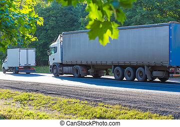 ir, Camiones, carretera