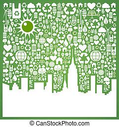 ir, cidade, experiência verde