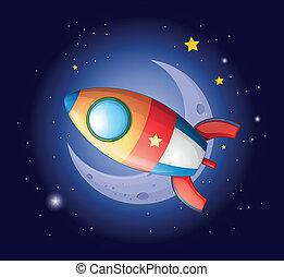 ir, foguete, lua