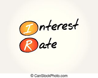 IR - Interest Rate acronym