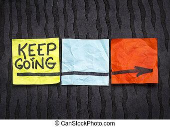 ir, motivação, conceito, mantenha