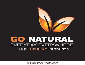 ir, natural, tarjeta