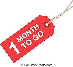 ir, sinal, um, mês