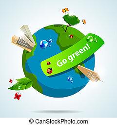 ir, verde