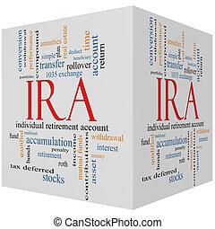 IRA 3D cube Word Cloud Concept