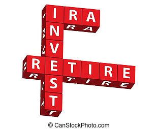 ira, invierta, y, jubilar