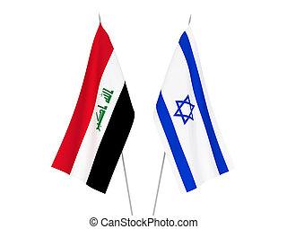 irak, izrael, zászlók