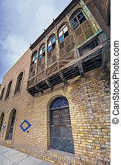 iraki, öreg, épület
