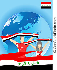 irakien, ventilateurs, sport