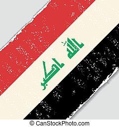 irakijczyk, wektor, grunge, illustration., flag.