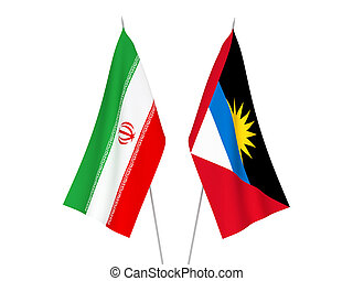 Iran and Antigua and Barbuda flags - National fabric flags ...