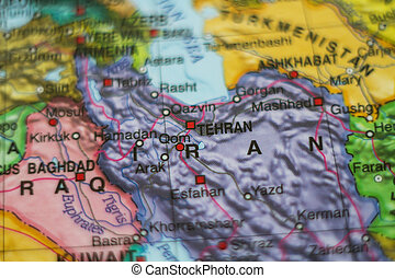 iran country on map .