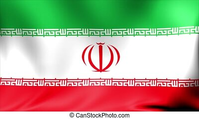 Iran Flag. Background Seamless Looping Animation.