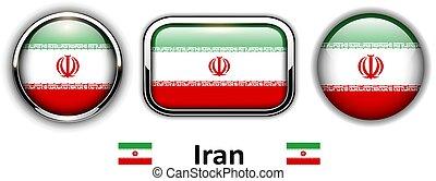 Iran flag buttons