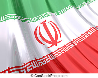 Iran Flag - Glossy Flag of Iran.