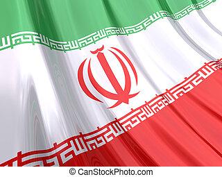 Glossy Flag of Iran.