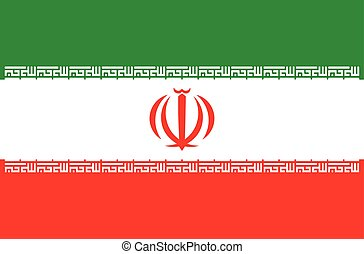 Iran flag Iran coat of arms, stylish vector illustration