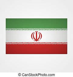 Iran flag on a gray background. Vector illustration