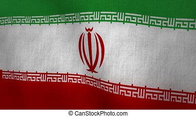 Iran Flag Textured (Loop-able)