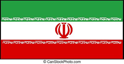 Iran flag vector illustration isolated on background