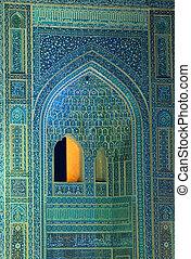 iran, fondo, orientale, pavimentato, ornamenti, isfahan, moschea
