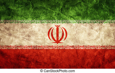 Iran grunge flag. Item from my vintage, retro flags collection