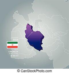 Iran information map.