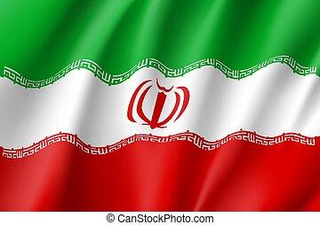 Iran national flag, vector illustration