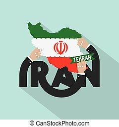 iran, projektować, typografia