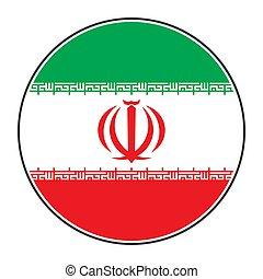 Iran round flag vector, Iranian national flag