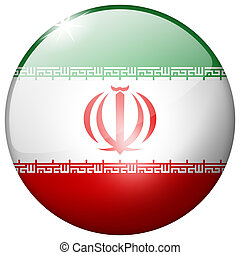 Iran Round Glass Button
