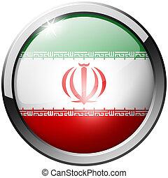 Iran Round Metal Glass Button