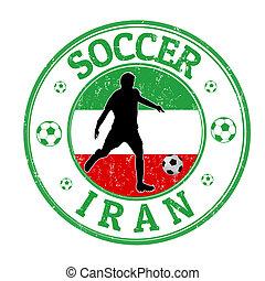 Iran soccer stamp
