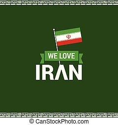 iran, vector, ontwerp, dag, onafhankelijkheid