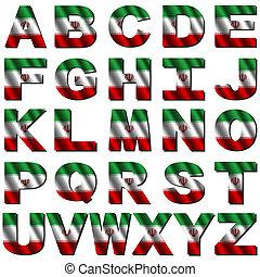 Iranian flag font
