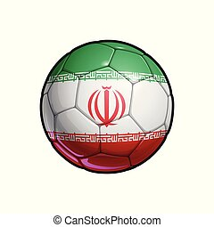 Iranian Flag Football - Soccer Ball