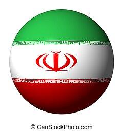 Iranian flag sphere