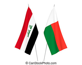 Iraq and Madagascar flags - National fabric flags of Iraq ...