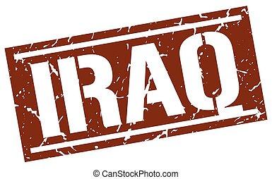Iraq brown square stamp
