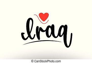 Iraq country text typography logo icon design
