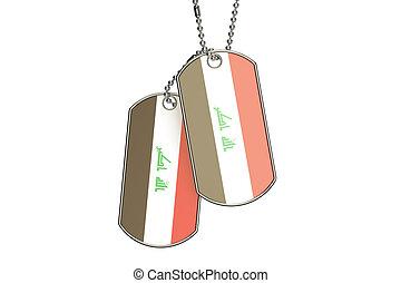 Iraq Dog Tags, 3D rendering