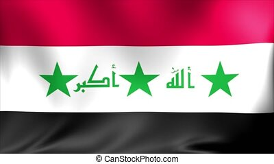 Iraq Flag. Background Seamless Looping Animation.