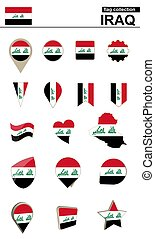 Iraq Flag Collection. Big set for design. Vector...