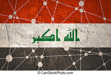 Iraq flag concept