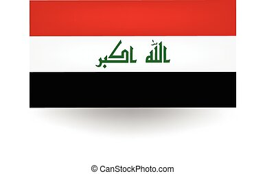 Iraq Flag - Official flag of Iraq.