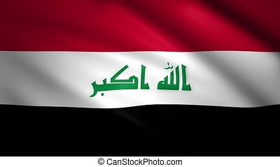 Iraq flag moves in the wind