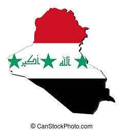 Iraq map flag